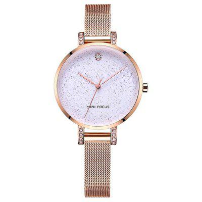 MINI FOCUS Women Rose Gold Luxury Stainless Steel Bracelet Quartz Watches watches women rose gold top luxury brand stainless steel ladies quartz watch 30m waterproof diamond clock reloj mujer horloge