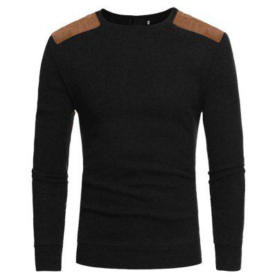 Men's Round Neck Casual Slim Knit Sweater men fashion round collar knitting sweater