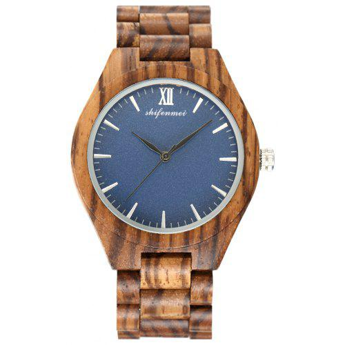 SHIFENMEI 5534 Simple and Environmentally Friendly Wooden Wristwatch