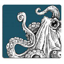 Mouse Pad Sealife Sea Monster Octopus Kraken with Tentacles Black and White