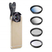 APEXEL Clip Polarizing Filter 16MM Wide Angle Macro Mobile Phone Camera Lens Kit