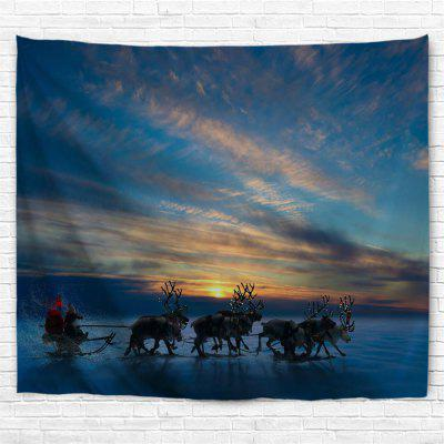 Sunset Christmas Sleigh 3D Printing Home Wall Hanging Tapestry for Decoration home for christmas