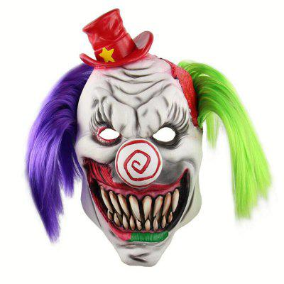 Halloween Scary Red Hat Clown Head Mask monster printed halloween decor head mask page 8