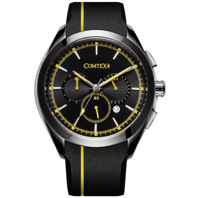 Comtex Men Watch Black Sport Waterproof with Silicone Band Wristwatch куртка quiksilver trestlesarmybom black