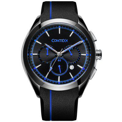 Comtex Men Watch Black Sport Waterproof with Silicone Band Wristwatch перчатки dakine rover glove black