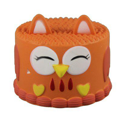 Jumbo Squishy Orange Owl Cake Toys кастрюля с крышкой metrot вилладжо