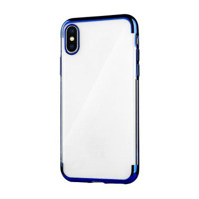 For IPhone X / XS Case Transparent Shockproof Cover Electroplate Bumper Case