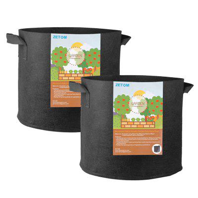 ZETOM Grow Bags, 5 Gallon Thickened Nonwoven Fabric Pots Nursery Garden Pots with Handles Plant Container 2-Pack