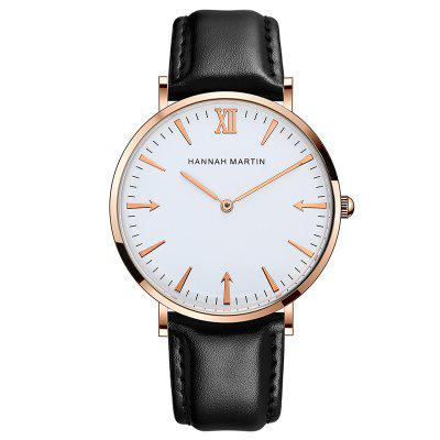 Hannah Martin Fashion Casual Personality Design Belt Men's Watch