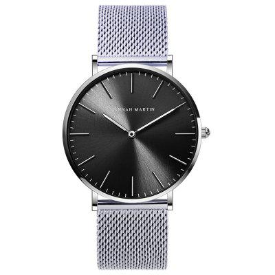 Hannah Martin Stainless Steel Mesh Belt Waterproof Business Men's Watch