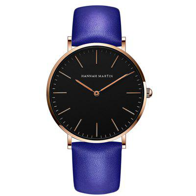 Фото - Hannah Martin Top Brand Men Fashion Casual Business Leather Quartz Watches fashion business men