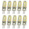 OMTO 10PCS LED G4 Mini Corn Bulb DC AC/DC12V 220V 24 LED  Replace Halogen Light - WARM WHITE