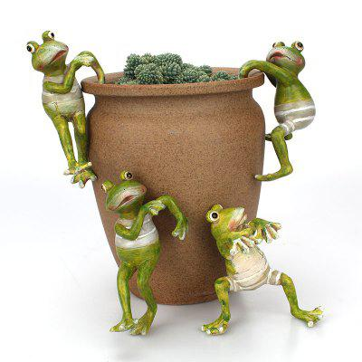 Resin Frog Ornament for Potting Decor DIY Miniature Landscape Garden Decoration miracle gro potting mix 16 quart currently ships to select northeastern