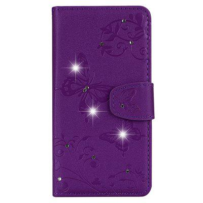 Mirror Case for Xiaomi Redmi S2 Phone Diamond Strap Wallet Leather Cover butterfly bling diamond case