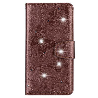 Mirror Case for Xiaomi Redmi 5 Phone Diamond Strap Wallet Leather Cover butterfly bling diamond case