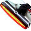 Ultra Bright Cyborg 168T USB Rechargeable Bicycle Tail Light Red High Intensit - CHESTNUT RED