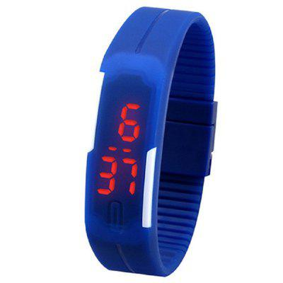 LieDao Silicone Jelly Unisex LED Wrist Watch Bracelet