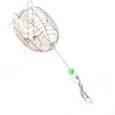 Stainless Steel Wire Lure Small Bait Cage Fishing weight forward hook bait carp fishing tackle feeder bait cage lure pit device with lead pellet fishing lure pellet feeder