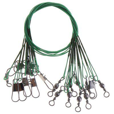 Portable High Carbon Fishing Lead Line Stainless Steel String Rope 10PCS