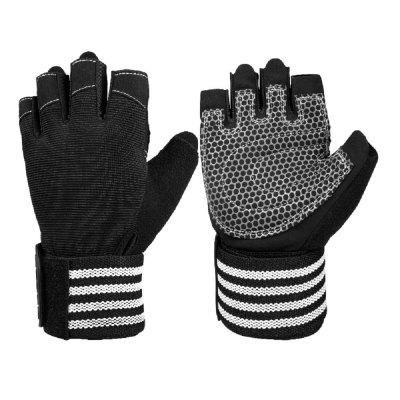 OZERO Fitness Gloves with 19 in Wrist Wrap Support Extra Grip Workout Gloves