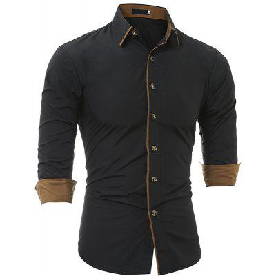 Men's Casual Slim Long Sleeve Shirt 5227