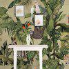 Tropical Rainforests And Birds Mural / Wallpaper Canvas Wall Covering - MULTI