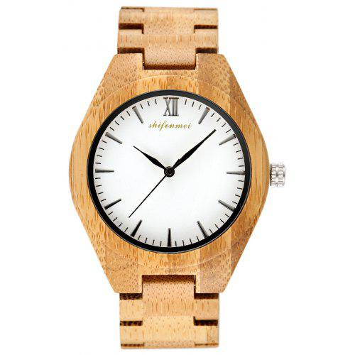 SHIFENMEI 5515 Fashion Environmental Protection Wooden Watch