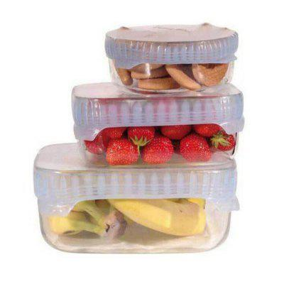 4 Sets of Silicone Food Cling Film Sealed Universal Bowl Cover OPP Bag Packaging