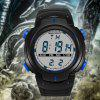 SANDA Men Luxurious Multi-Functional Waterproof LED Digital Watch - MULTI COLORI-A