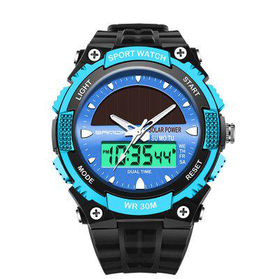 SANDA Men's Fashion Multifunctional Double Display LED Waterproof Watch xinjia xj 869z dual display sports watch