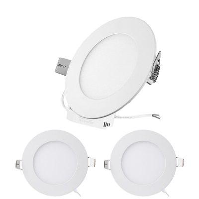 ZDM 3PCS 6W Round Ultrathin LED Recessed Panel Lights AC12V/AC24V