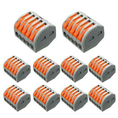 ZDM 10PCS ET25 2-5 Pins 32A Spring Terminal Block Electric Cable Wire Connector