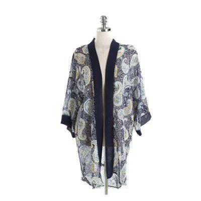 Multi-Patterned Touristique Mode Bikini Sunscreen Blouse Châle