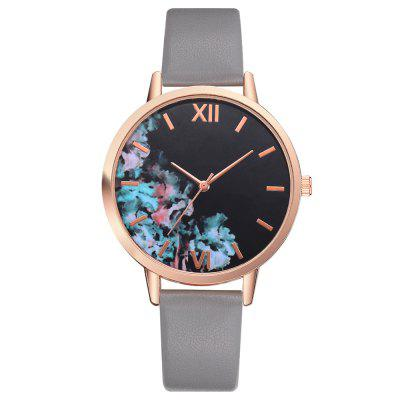 Lvpai P474 Fashion Female Student Retro PU Leather Watch
