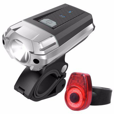 цена на USB Rechargeable LED Light Set, Bicycle Headlight Front Light FREE Rear Back