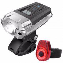 USB Rechargeable LED Light Set, Bicycle Headlight Front Light FREE Rear Back