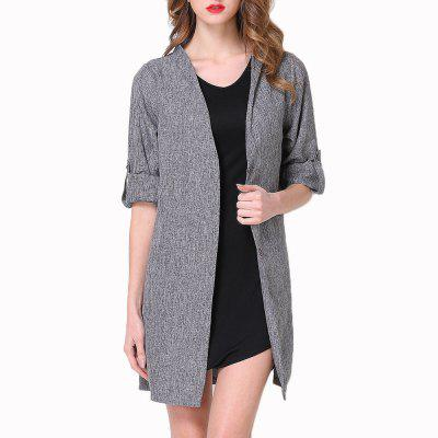 Large Size Women's Single-Breasted Loose Long-Sleeved Trench Coat