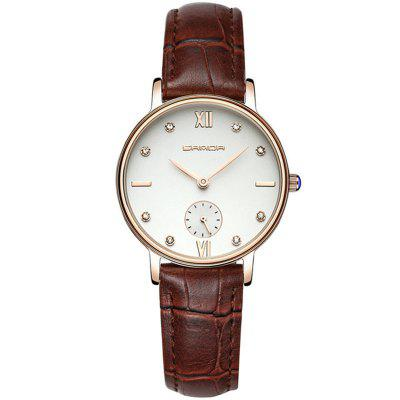 SANDA Fashion Lovers Set Auger Waterproof Leather Quartz Watch
