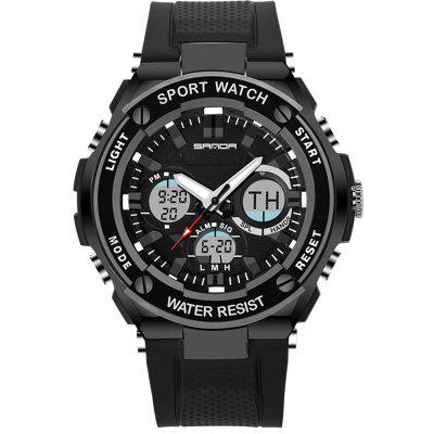 SANDA Fashion Leisure bărbați Sporturi Waterproof LED ceasuri electronice