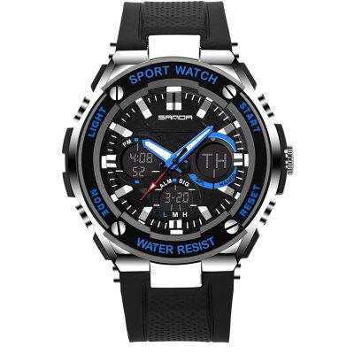SANDA Fashion Leisure Men's Sports Waterproof LED Electronic Watches