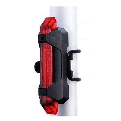 USB Rechargeable Bicycle Light Front And Tail Head Back Flashing Safety - BLACK