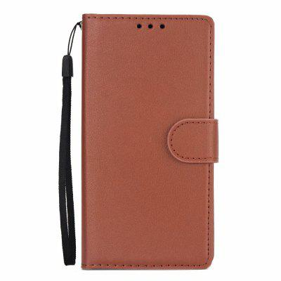 For Samsung A6 Business Card Protection Leather Cover Case