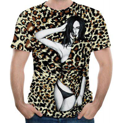 Leopard Tattoo Beauty Map  Men's Short Sleeve T-shirt