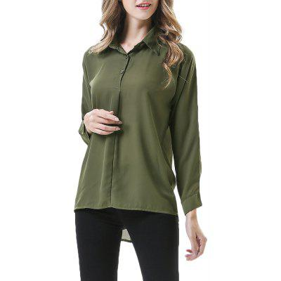 Autumn New Slimming Large Size Women's Loose Casual Long-Sleeved Shirt