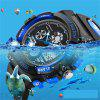 SANDA Dual Display Children Colorful Alarm Luminous Calendar Watch - BLUE