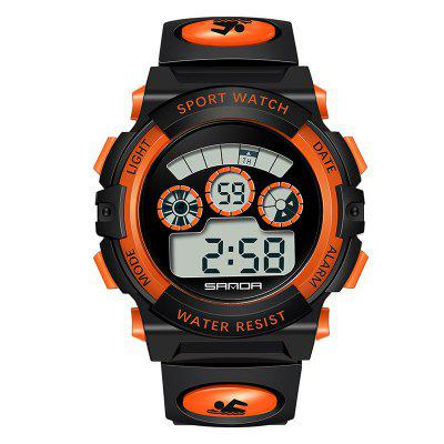 SANDA Student LED Movement Waterproof Running Electronic Watch