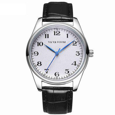 VA-203 grote digitale display Casual heren riem quartz horloge