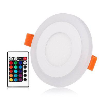 ZDM Dimmable 3W/6W/12W RGB Panel Light with 24 Key Controller  AC85-265V