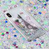 Built-In Pattern Painted Quicksand Phone Case for iPhone X - MULTI-A