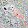 Built-In Pattern Painted Quicksand Phone Case for iPhone X - MULTI-C